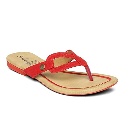 50138cf25ac7 PARAGON SOLEA Plus Women s Red Flip-Flops  Buy Online at Low Prices in  India - Amazon.in