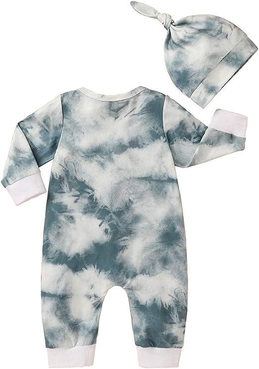 Kleidungsset mit Schleifenstirnband T TALENTBABY Langarm-Strampler f/¨/¹r Neugeborene mit Blumenmuster Blumenm/¨/¹TZE