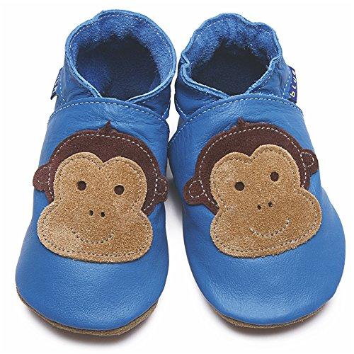 Bleu Box Gift Blue Inch Souple Chaussures White Bébé Pour garçon RqYavw