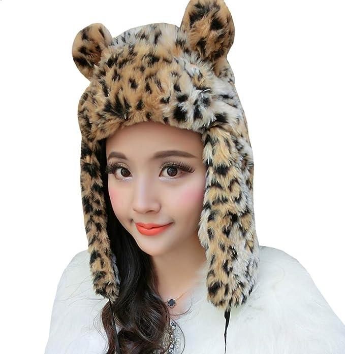 Faux Fur Hat Animal Pattern Cloche Hat Zebra Leopard Cheetah Tiger Giraffe Print Fur Winter Hat Spring Fashion Winter Accessories 1920s Hat