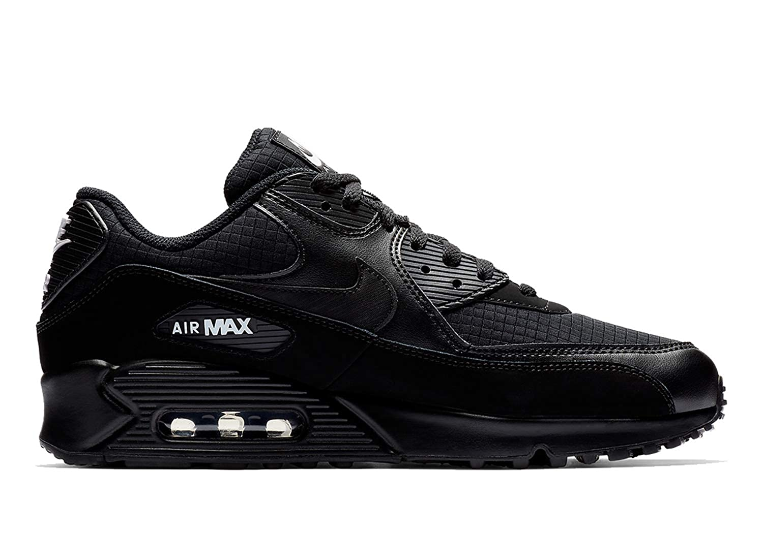 competitive price 820ef d1ba8 Amazon.com   Nike Mens Air Max 90 Essential Running Shoes Black White  AJ1285-019 Size 10.5   Road Running