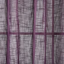 Deconovo Grommet Top Curtains Linen Sheers Window Sheers Linen Curtains for Bedroom 52 x 95 Inch Purple 1 Pair
