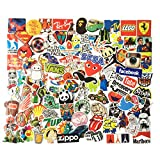 STICON 100 Pieces Vinyl Waterproof Stickers for Car, Laptop, Luggage, Skateboard, Motorcycle, Bicycle Decal Graffiti Patches (Series A)
