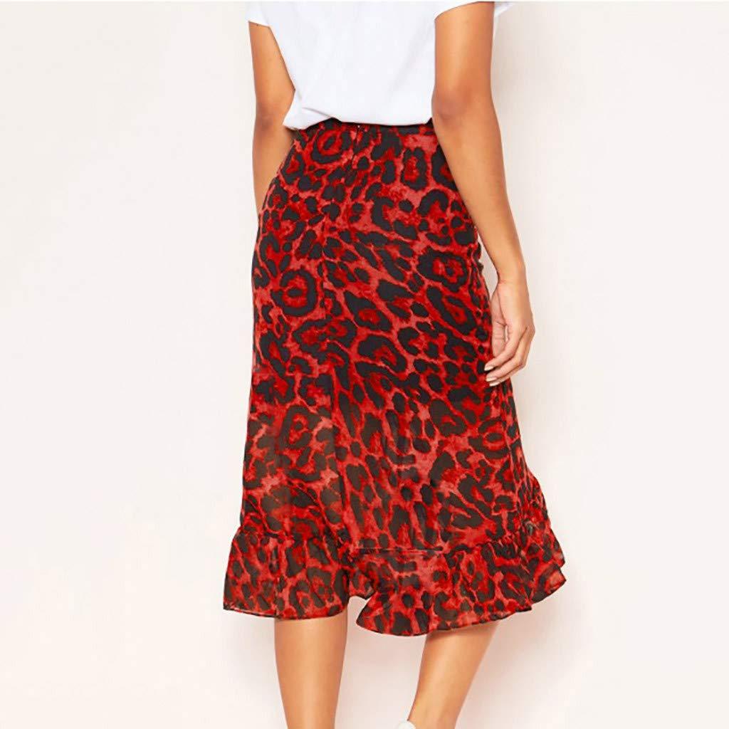 Conquro-falda con Estampado de Leopardo de Las Mujeres Moda de ...