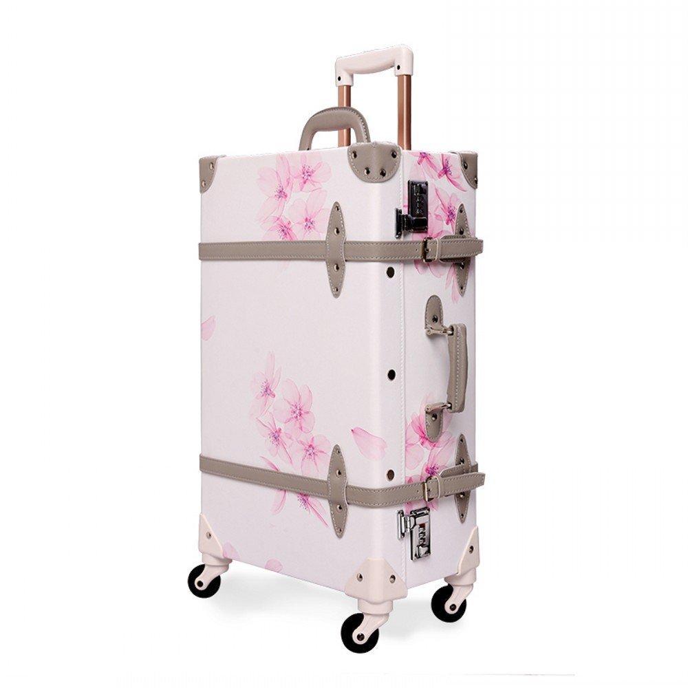 Amazon.com   Unitravel Suitcase Vintage Luggage with Spinner Wheels Retro  Style Suitcase (20