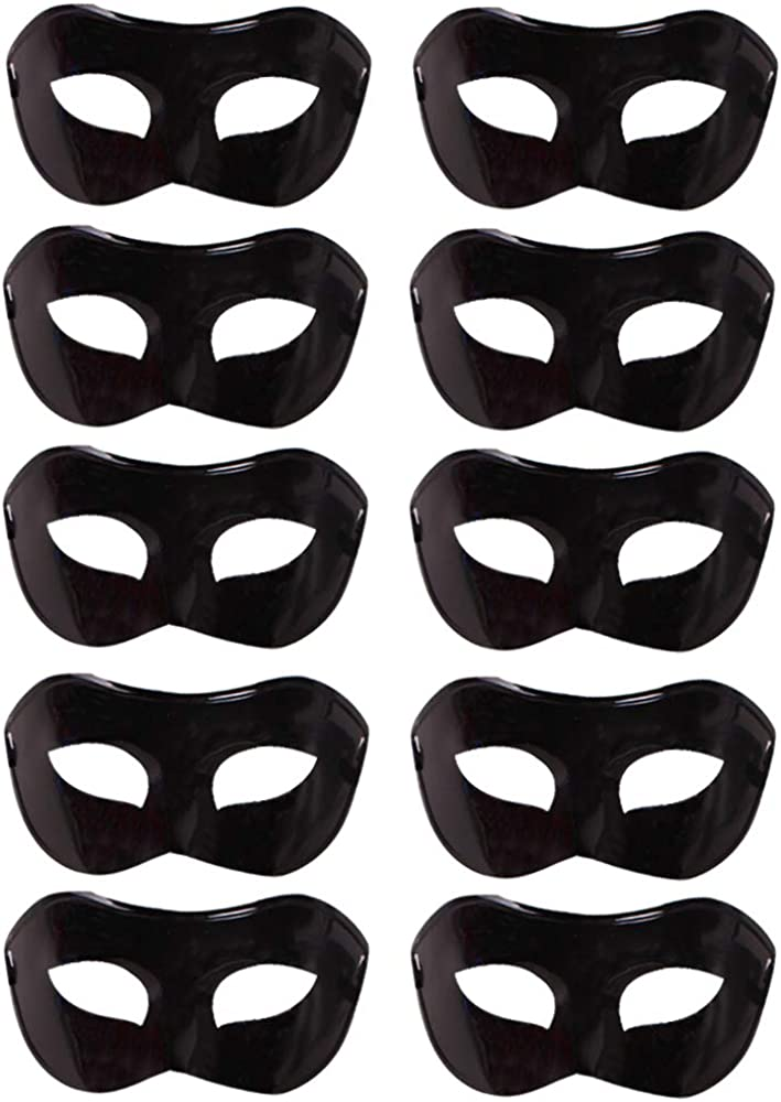 10 Pcs Unisex Retro Masquerade Mask Face Mask Venetian Mask for Fancy Dress Costume Halloween Party 61uhlz2BBN2L