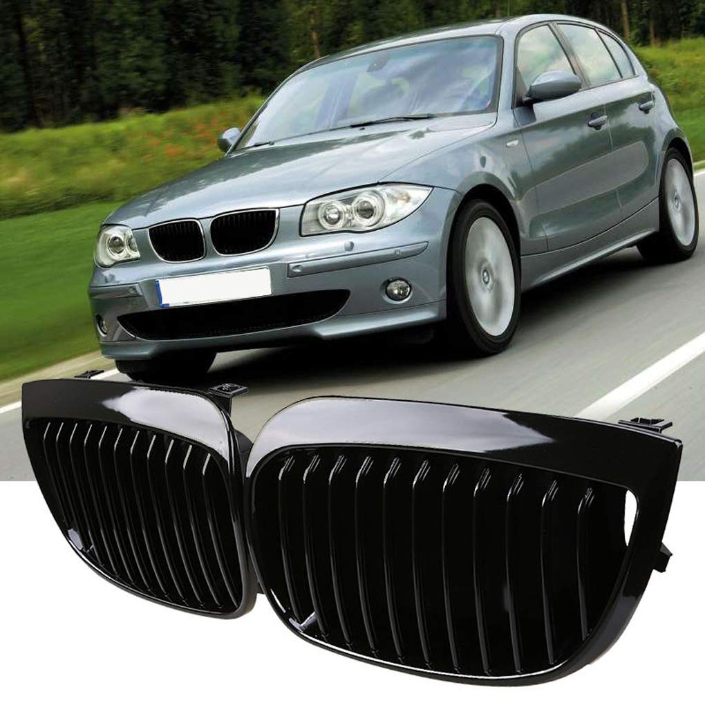 Aiming Front Shiny Gloss Black Kidney Grille Grill for BMW E87 E81 1-Series 2004-2007