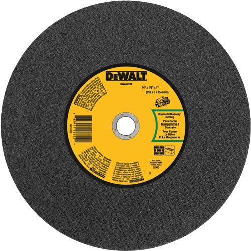 DEWALT DWA8034 Concrete Masonry Port Saw Cut-Off Wheel, 14-Inch X 1/8-Inch X 1-Inch by DEWALT
