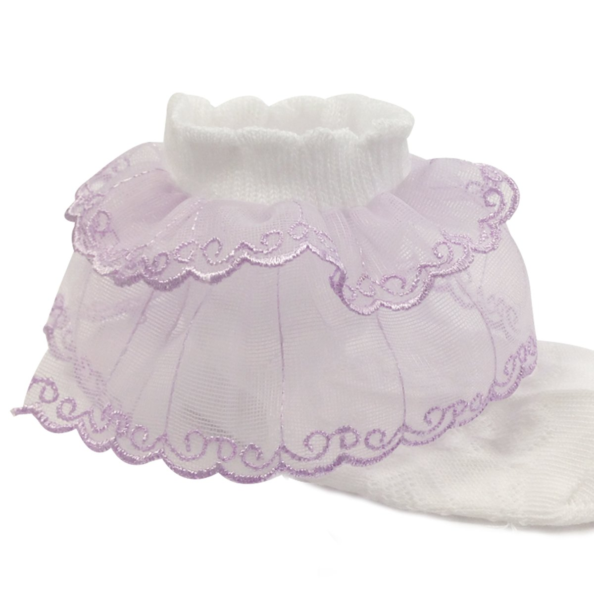 Wrapables Lil Miss Emily Double Layer Lace Ruffle Socks Set of 5