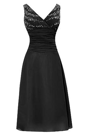 e7435e939c0 Dora Bridal V-Neck Chiffon Mother Of The Bride Dresses Tea Length Size 2 US
