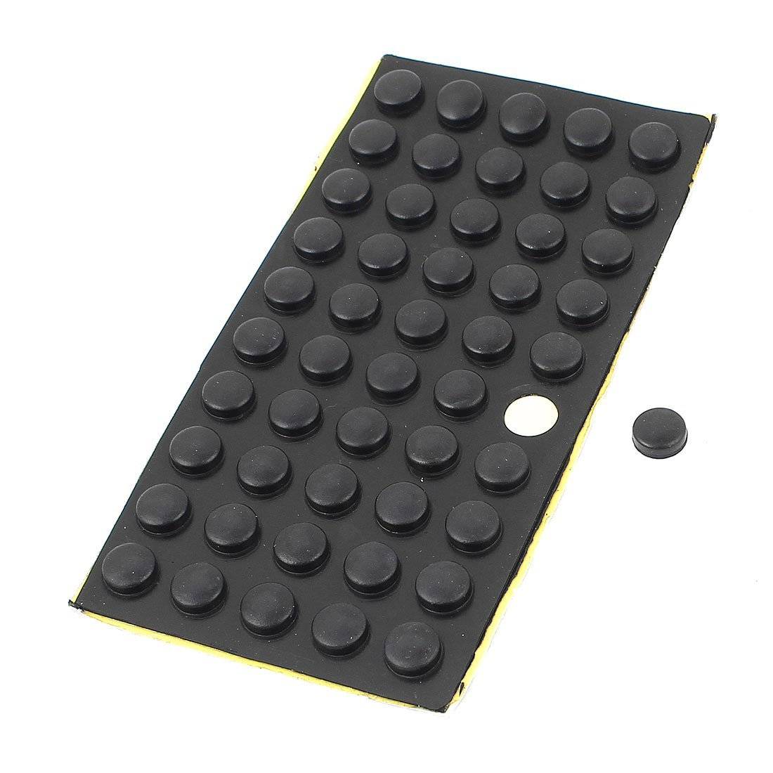 DealMux Inicio de Mesa Piso Adhesiva de 10 mm x 4 mm Mini Tacos de Goma Negro 50 PC