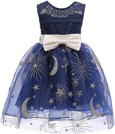 Amazon.com: jpoqw Kid niñas vestido para niña luna estrellas ...