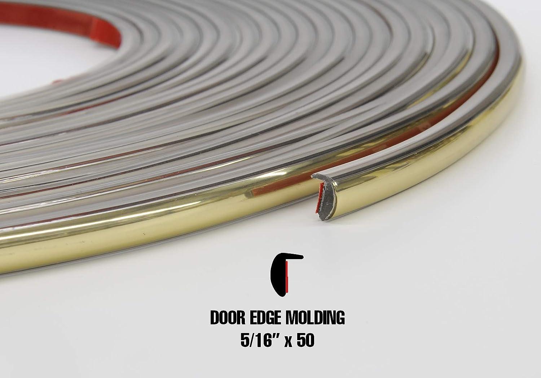 Trim-Gard 5//16 L-Style Colored Door Edge Guard Golden Umber, 50 Feet