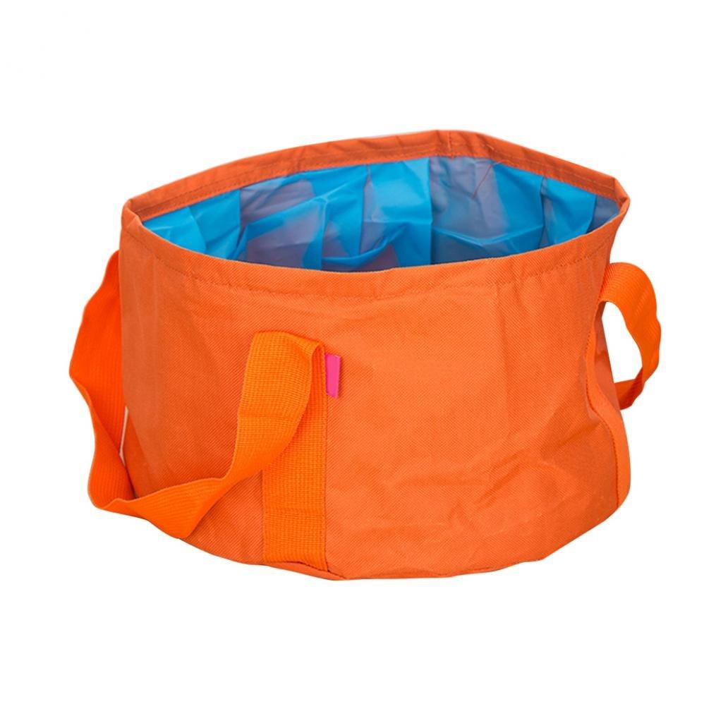 quietcloud折りたたみ式水Wash Bagバケットポットシンク盆地の旅行キャンプハイキングアウトドア B0794YFHZD オレンジ オレンジ