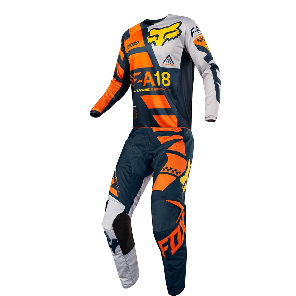 Fox Racing 180 Sayak Orange Jersey/ Pant Youth Combo - Size Y-SMALL/ 22W
