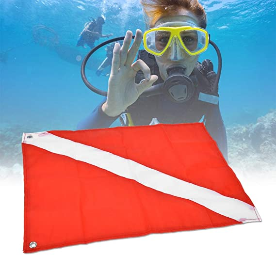 Diving Scuba Diving Keenso Red/&White Scuba Diving Flag Diving Flag Diver Flag Safe Signal Diving Signal Marker for Underwater Activities Snorkeling Free-Diving Etc