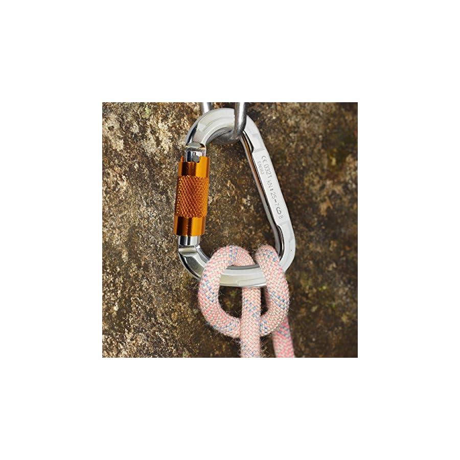 Screw Lock Climbing Carabiner – 25KN Heavy Duty Auto Locking Fall Protection