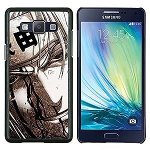 Qstar Arte & diseño plástico duro Fundas Cover Cubre Hard Case Cover para Samsung Galaxy A5 A5000 (Guerrero japonés)