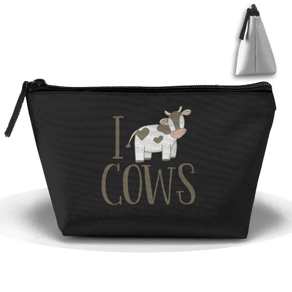 I Love Cows Cow Lover Gifts Cosmetic Makeup Bag Handy Purse Makeup Pouch Clutch Organizer Travel Storage Bag