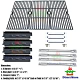 cast iron tube - Direct store Parts Kit DG161 Replacement Charbroil 463440109 Gas Grill Repair Kit (SS Burner + SS carry-over tubes + Porcelain Steel Heat Plate + Porcelain Cast Iron Cooking Grid)