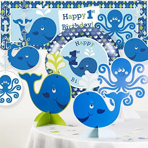 Ocean Preppy Boy 1st Birthday Party Decorations (1st Birthday Decoration At Home)