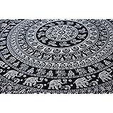 Handicrunch Elephant Mandala Tapestry, Hippie Tapestries, Wall Tapestries, Tapestry Wall Hanging, Indian Tapestry, Bohemian Bedding Psychedelic tapestry Size 95 x 85 Inch's