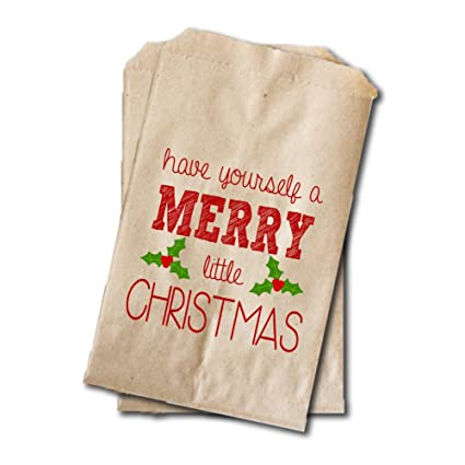 Amazon have a merry christmas treat bags christmas party have a merry christmas treat bags christmas party rustic favor bags cookie exchange solutioingenieria Choice Image
