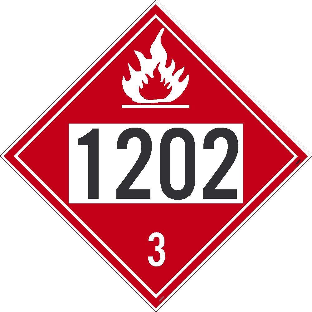 1202 Diesel Dot Placard