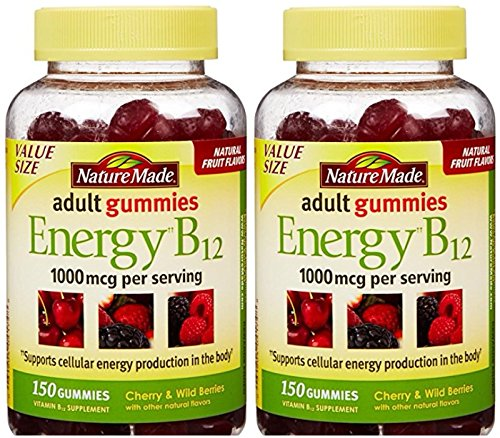 Nature Made Energy B12 Adult Gummies 1000 mcg per serving 150 Ct (Pack of 2)
