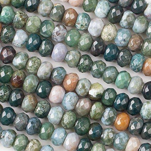 Jasper Rondelle Beads - 7