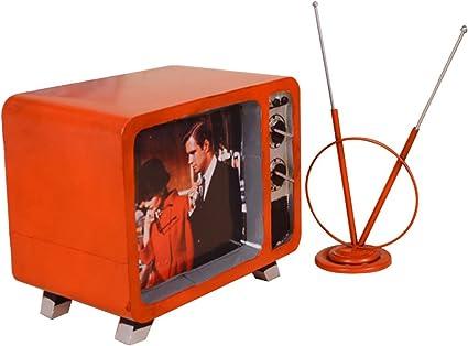 TOPQSC Retro TV Modelo Hacer Antiguo Hierro Craft Regalo ...