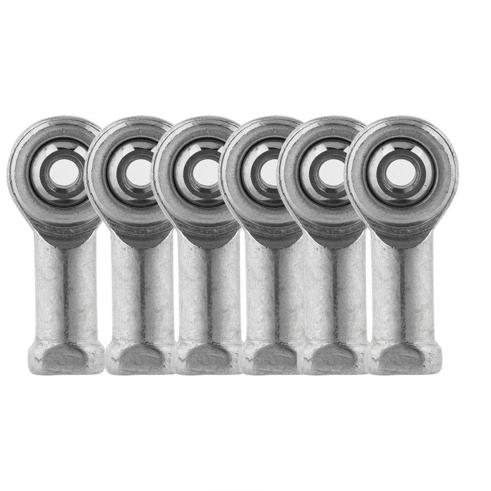 Richer-R Rod End Joint Bearing, 6 Pcs Thread Female M3/M4 Threaded Rod End Joint Bearing for 3D Printer(M4)