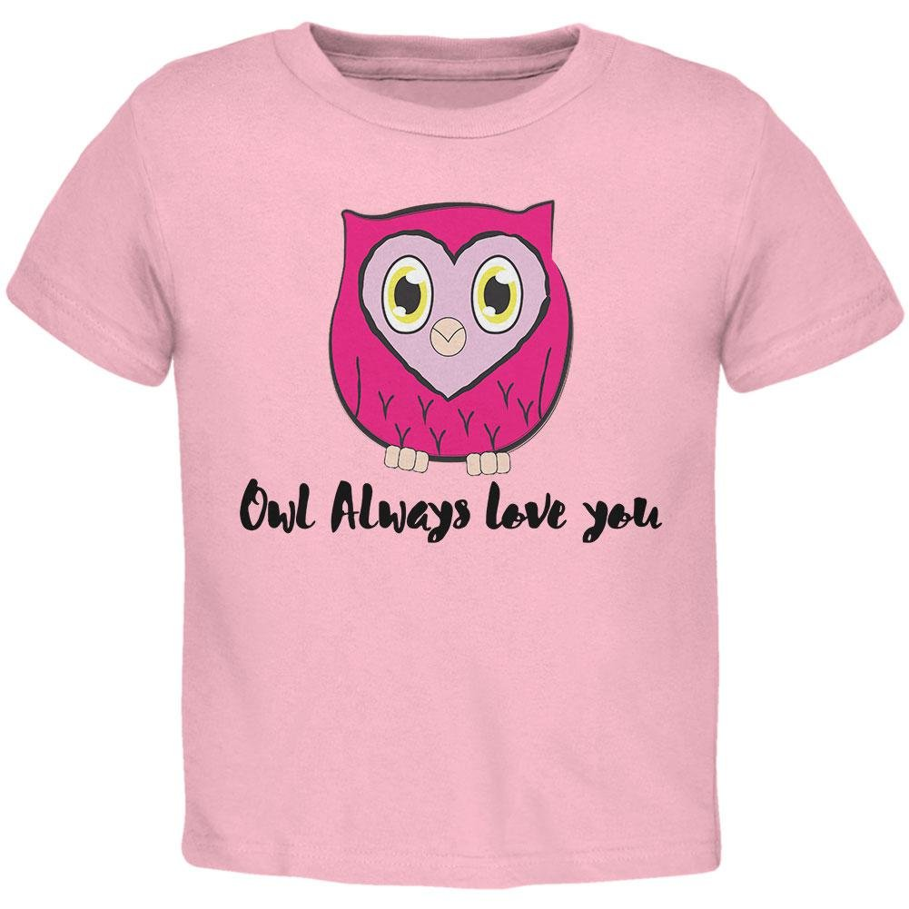 Old Glory Valentines Day Owl Always Love You Funny Pun Toddler T Shirt