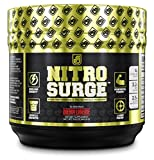 Jacked Factory NITROSURGE Nitric Oxide Booster and Preworkout Energy Powder, 30 Serving, Cherry Limeade (8.5 oz)