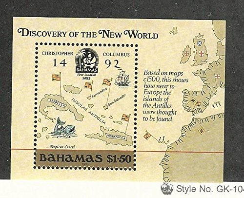 Bahamas, British, Postage Stamp, 644 Mint NH, 1988 Map