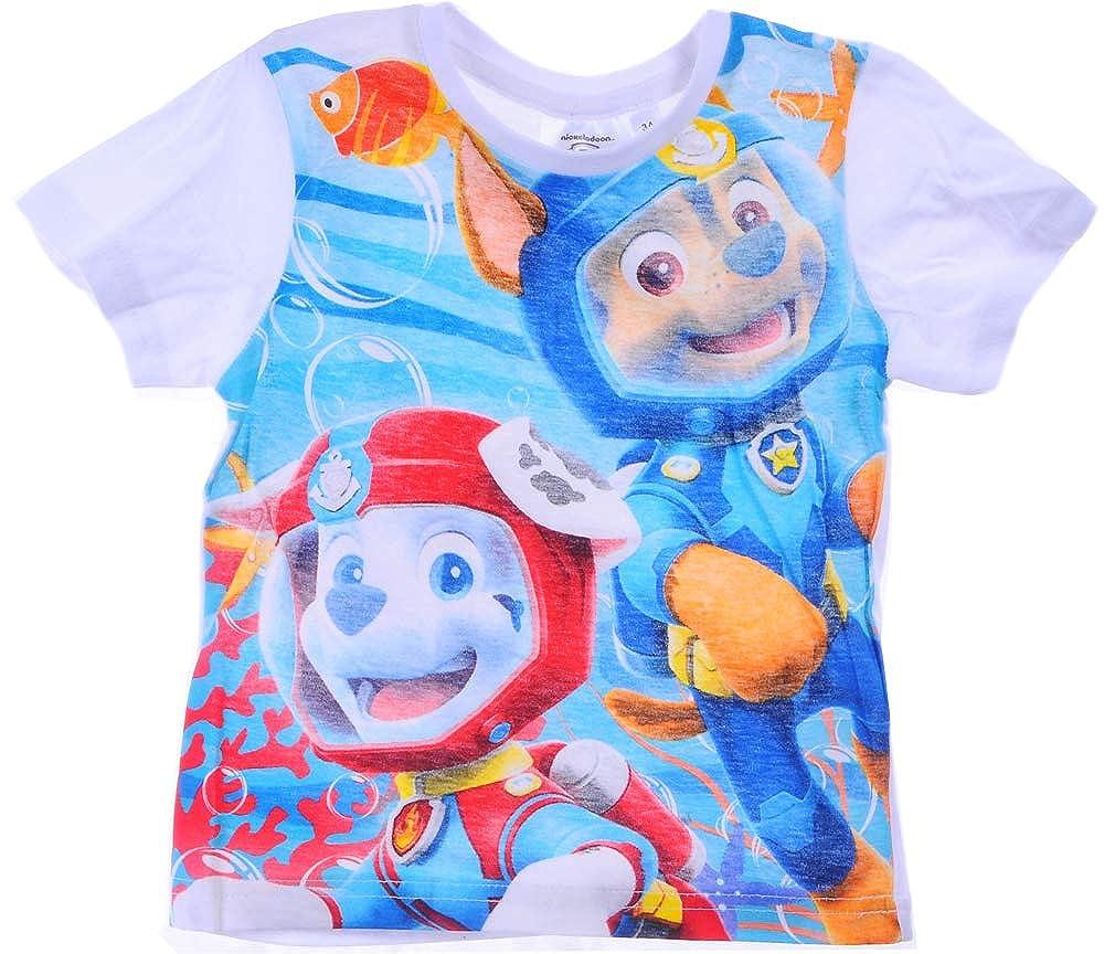 Paw Patrol Jungen T-Shirt Shirt Kurzarm 98 104 110 116
