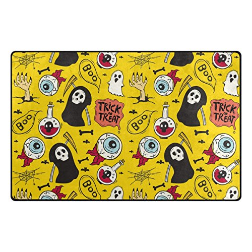 ALAZA My Daily Trick or Treat Halloween Ghost Eyeball Area Rug 20