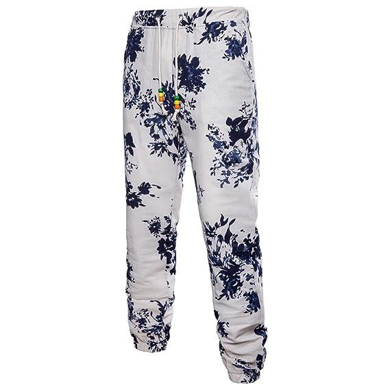 Sylar Pantalones Casual De Hombre Recto Moda Impresión Simple ...