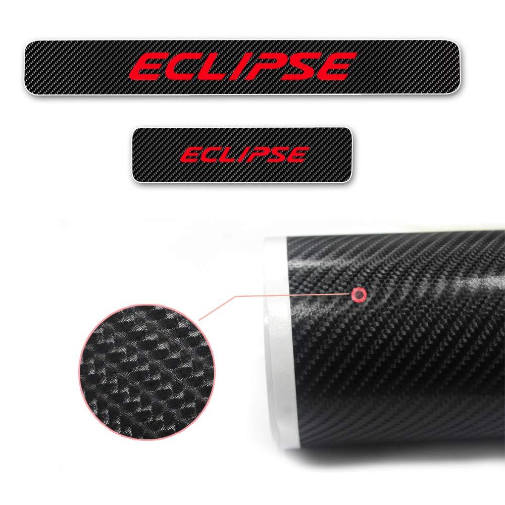 8X-SPEED para Eclipse 4D M Fibra de Carbono Pegatinas Sill/ín Pedal Proteger Umbral Cubierta Car Styling Sticker 4 Piezas Blanco