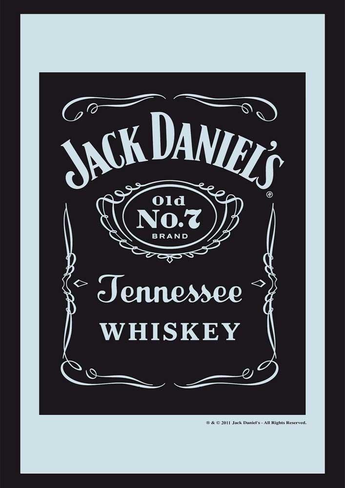 Empire 537669 Jack Daniels Whiskey Logo - Quadro su vetro stampato con cornice in plastica effetto legno - Misura 20 x 30 cm Empire Merchandising