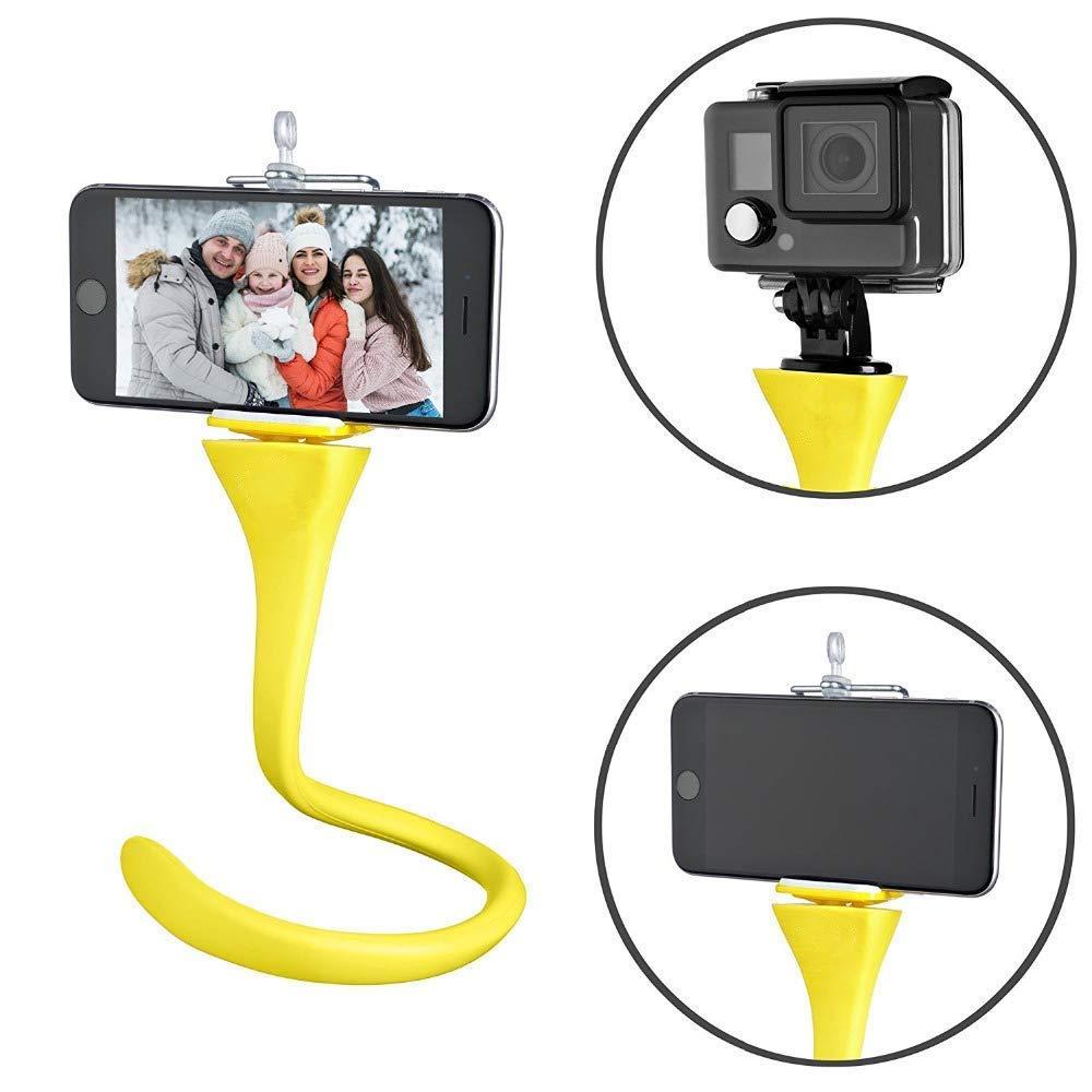 Genuine Banana Pod - Octopus Flexible Tripod Mount & Selfie Stick for iPhone Samsung Sj4000 Xiaomi Sony Action Cam GoPro Hero Camera - Car Headrest Mount - Bike Handlebar Roll Bar Mount - Any Where MEINUOKE Distribution FL-01
