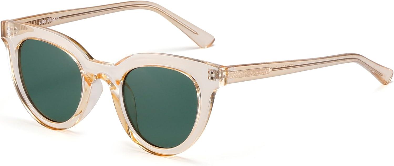 JIM HALO Rond Oeil de Chat Miroir lunettes de Soleil Bonbons Teint/és Transparents Lunettes de Vue Epaisses Femmes