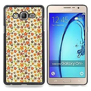 Stuss Case / Funda Carcasa protectora - Modelo en colores pastel Flores Wallpaper - Samsung Galaxy On7 O7