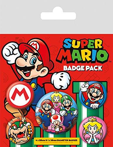 AMBROSIANA Pyramid International Super Mario Badge, 10x 12.5x 1.3cm 10x 12.5x 1.3cm BP80440 Gadget