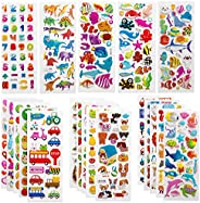 SAVITA 3D Stickers for Kids & Toddlers 500+ Puffy Stickers Variety Pack for Scrapbooking Bullet Journal Including Animal, Nu