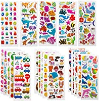 SAVITA 3D Stickers for Kids & Toddlers Puffy Stickers Variety Pack for Scrapbooking Bullet Journal