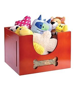 Etna Wooden Dog Toy Box Amazon Co Uk Toys Games