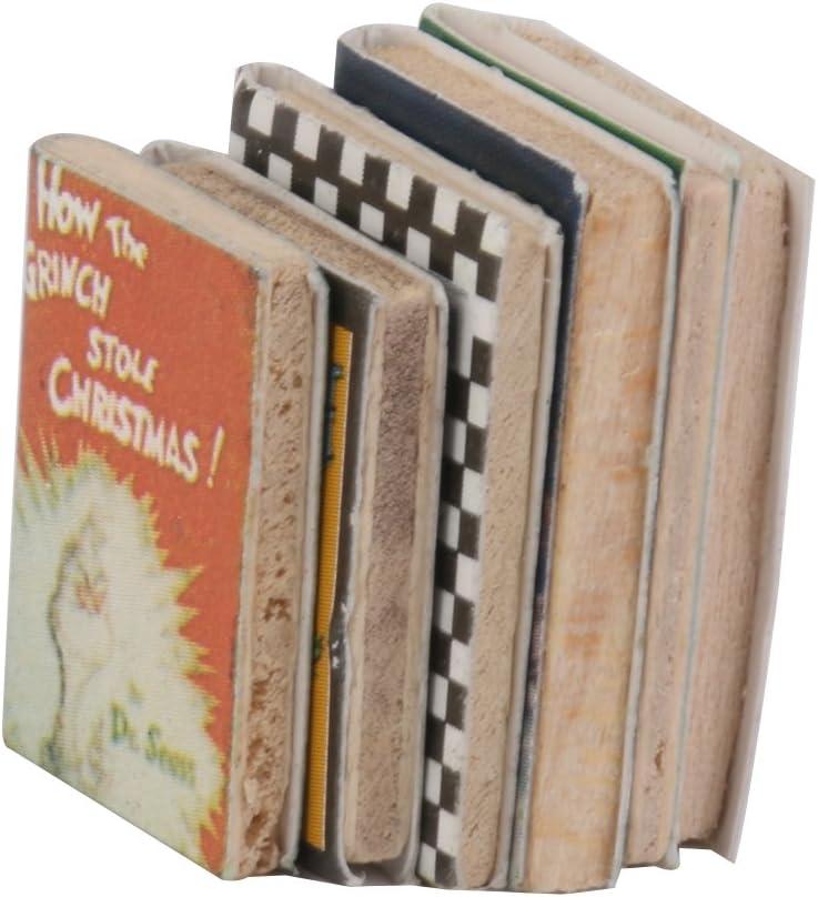 1//12 Miniatur Notizbuch Notizblock Tagebuch Puppenhaus Dekoration Zubehör B