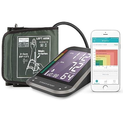 ac0fcadbeea 1byone Tensiómetros de brazo eléctricos inalámbrica con App para Android e  IOS, Pantalla LCD ,
