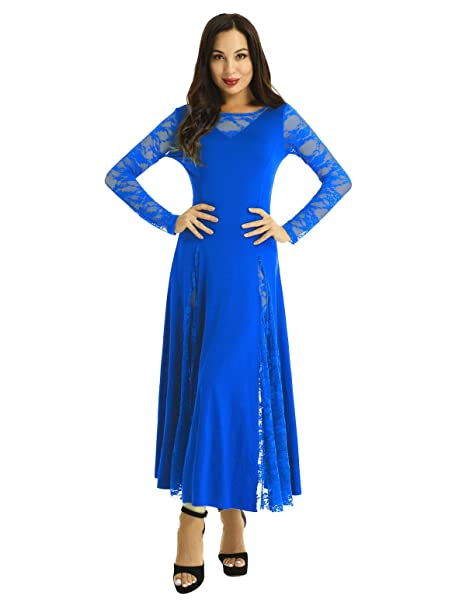 YiZYiF Vestido Flamenco Largo Mujer Maillot Baile Moderno Vestido ...